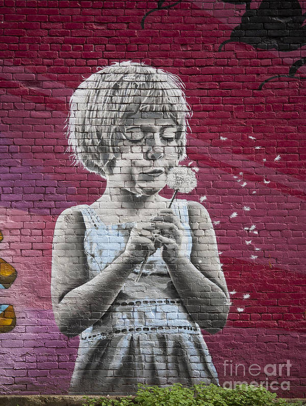Mural Poster featuring the photograph The Dandelion by Chris Dutton
