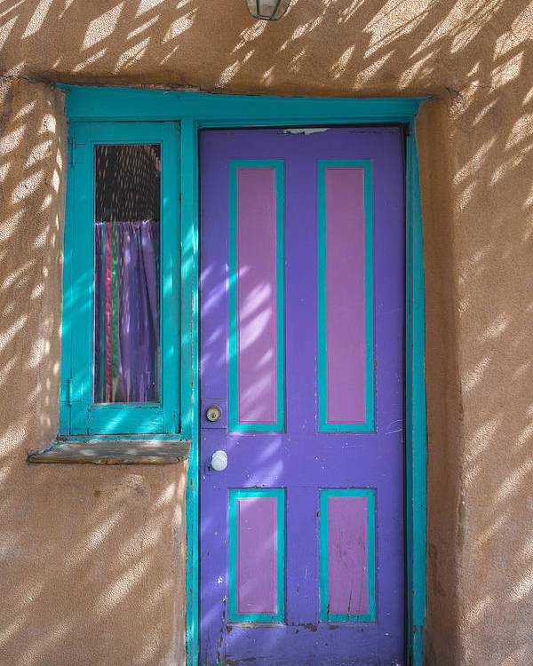 New Mexico Poster featuring the photograph The Door by Gary Lengyel