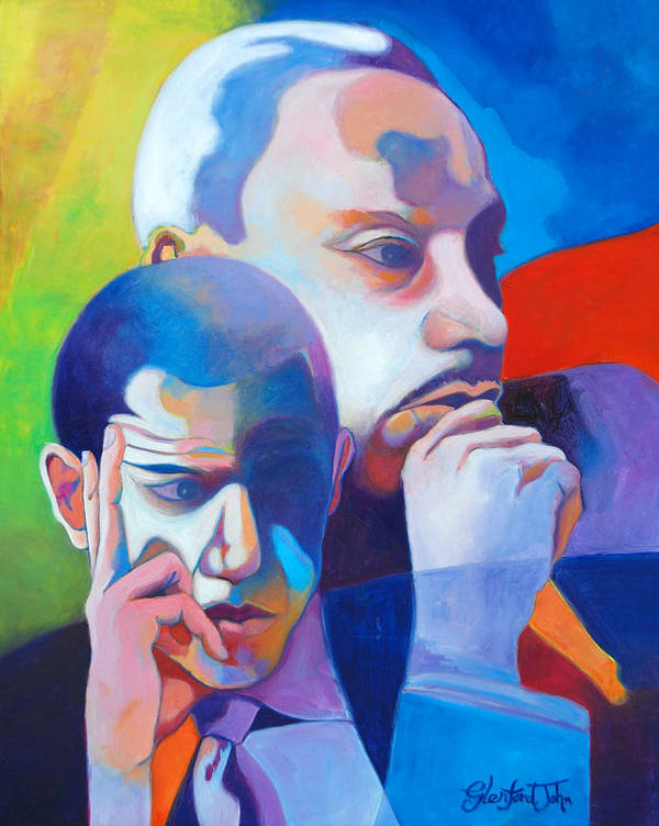 Obama Poster featuring the painting The Dream by Glenford John