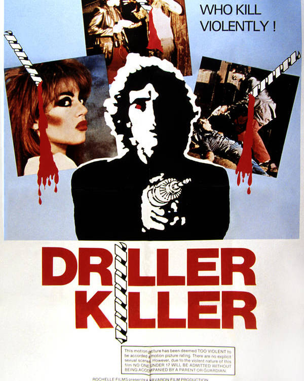 1970s Movies Poster featuring the photograph The Driller Killer, Abel Ferrara, 1979 by Everett