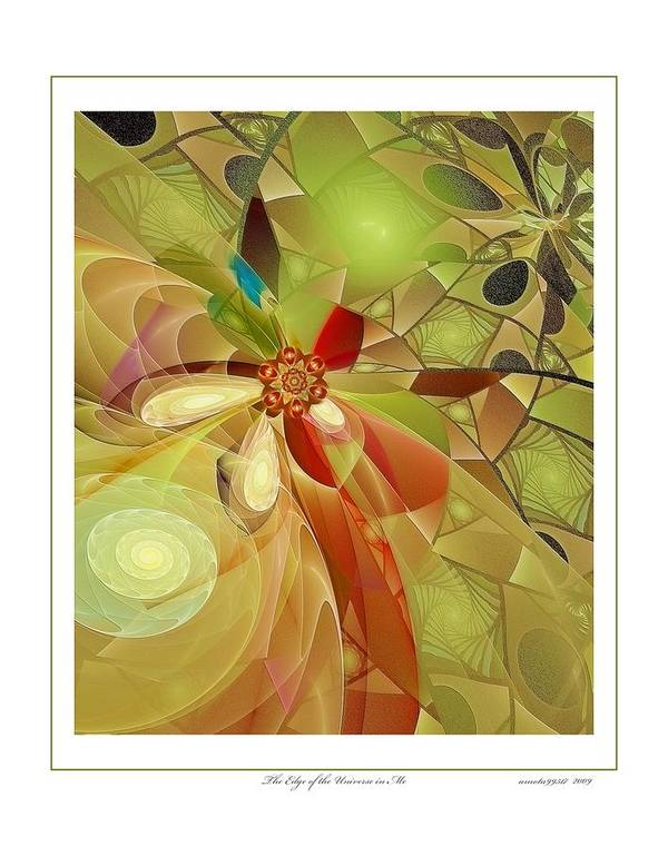 Fractal Poster featuring the digital art The Edge Of The Universe In Me by Gayle Odsather