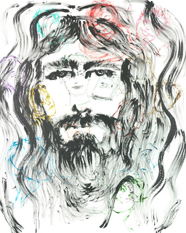 Jesus Poster featuring the painting The Emotions Of Jesus by Nadine Rippelmeyer