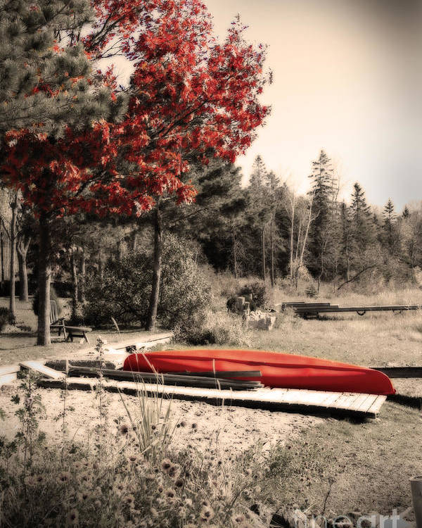 Digital Artwork Poster featuring the photograph The End Of Summer by Cathy Beharriell