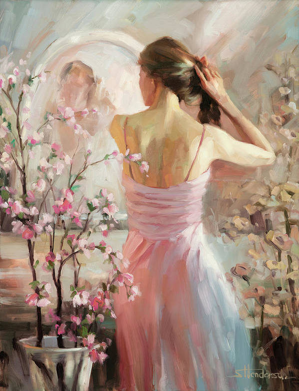 Woman Poster featuring the painting The Evening Ahead by Steve Henderson