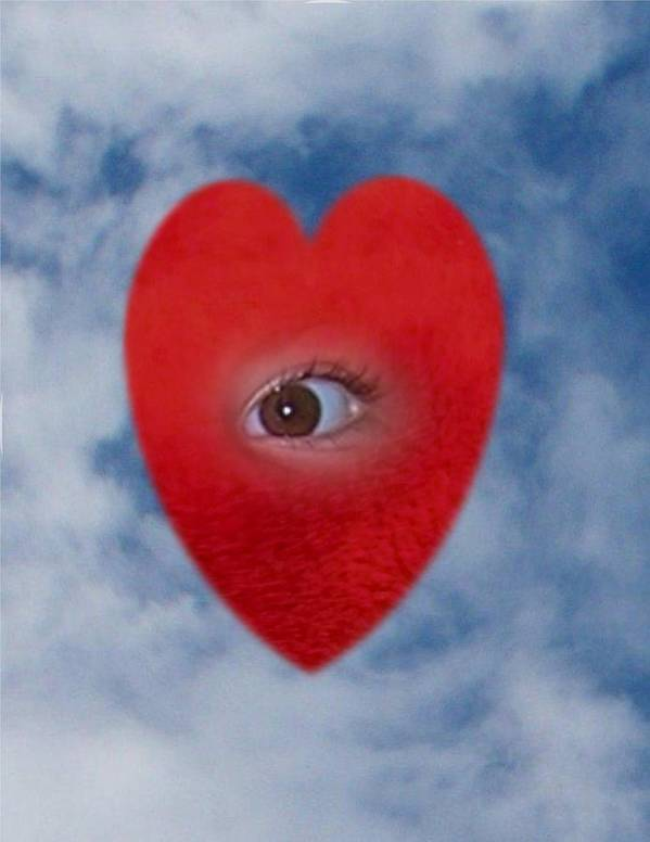 Digital Art Poster featuring the photograph The Eye Of The Heart by Carolyn Purser