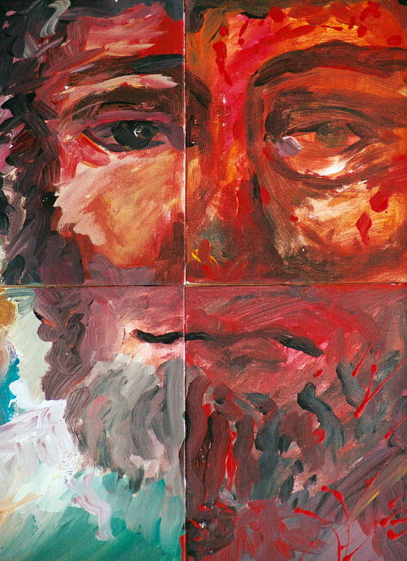 Jesus Poster featuring the painting The Face Of Love by Jun Jamosmos