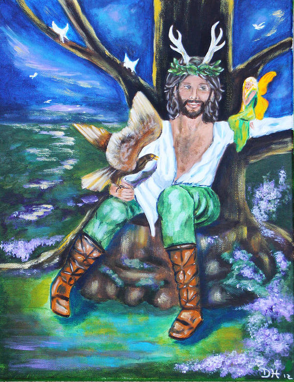 Faery Poster featuring the painting The Faery King by Diana Haronis