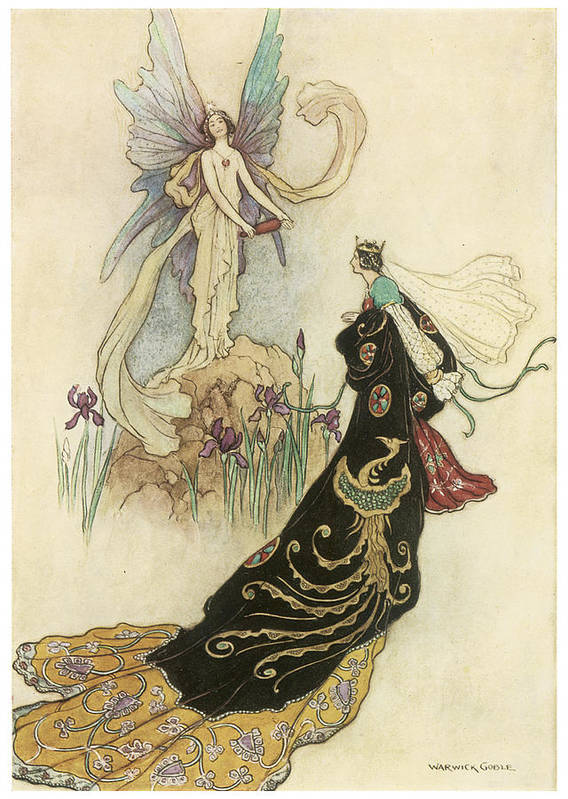 Warwick Goble Poster featuring the painting The Fairy Book by Warwick Goble