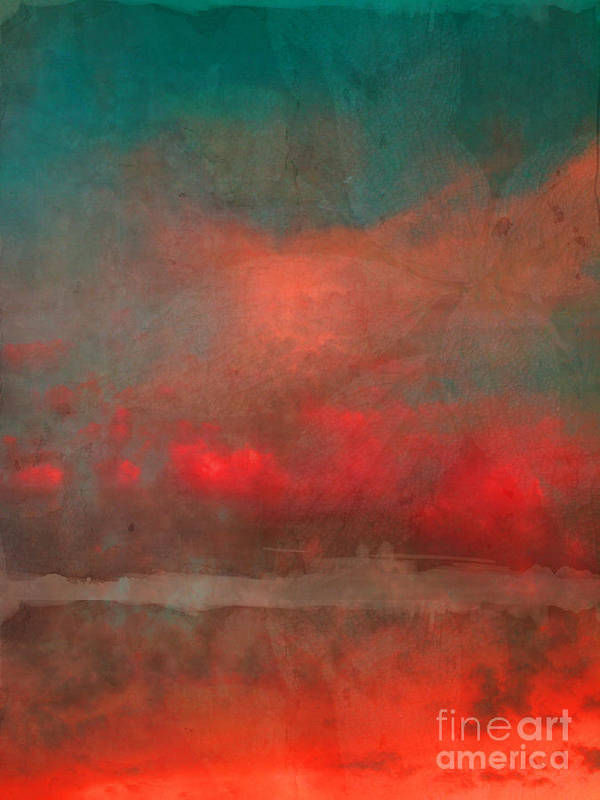 Abstract Poster featuring the photograph The Fire Clouds by Tara Turner