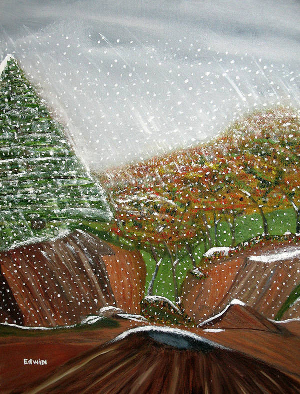 Snow Poster featuring the painting The First Snow by Edwin Long