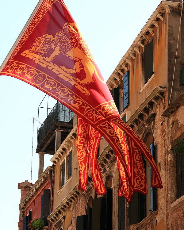 Venice Poster featuring the photograph The Flag Of Venice by Michael Henderson