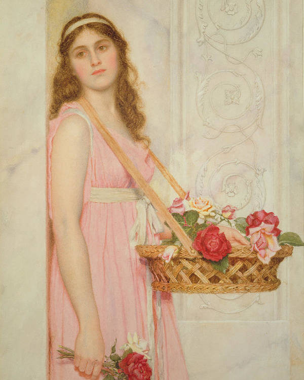 The Poster featuring the painting The Flower Seller by George Lawrence Bulleid