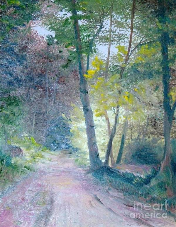 Landscape Poster featuring the painting The Forest by Judy Groves