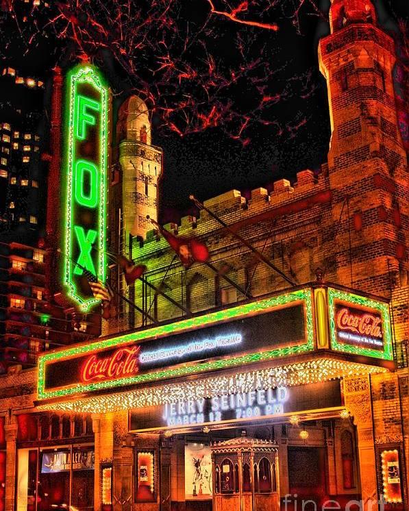 Motorcycle Art Poster featuring the photograph The Fox Theater Atlanta Ga. by Corky Willis Atlanta Photography