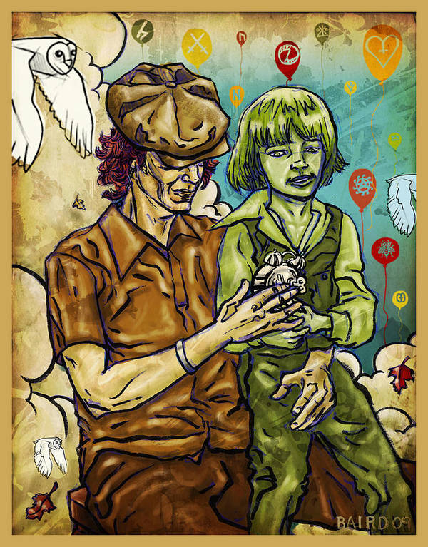 Childhood Poster featuring the painting The Fragility Of Balloons by Baird Hoffmire
