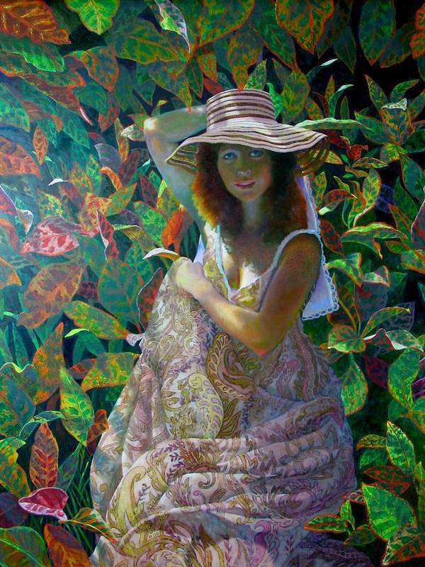 Figurative Poster featuring the painting The Garden by RC Bailey