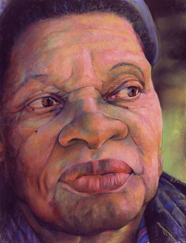 Women Poster featuring the pastel The Gaze Of Mother Witt by Curtis James