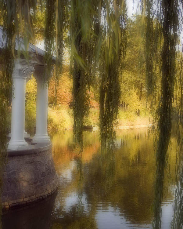 Water Poster featuring the photograph The Gazebo by Ayesha Lakes