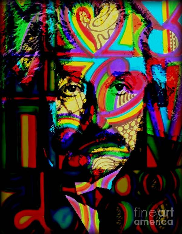 Albert Einstein Poster featuring the painting The Genius by Wbk