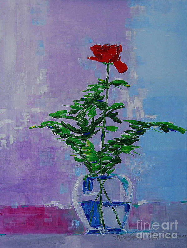 Flowers Poster featuring the painting The Gift by Art Mantia
