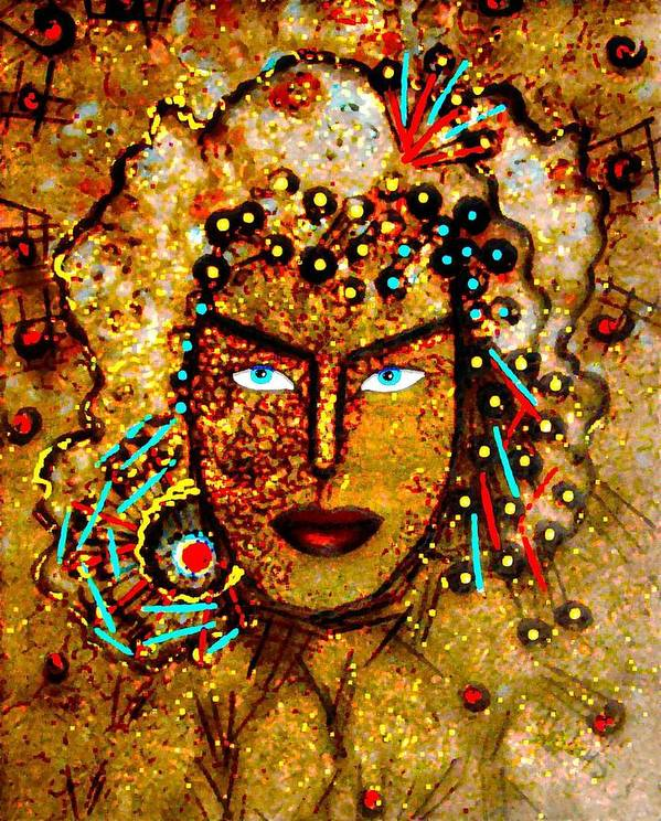 Goddess Poster featuring the painting The Golden Goddess by Natalie Holland
