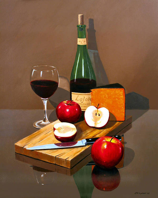 Still Life Poster featuring the painting The Good Life by Brooke Lyman