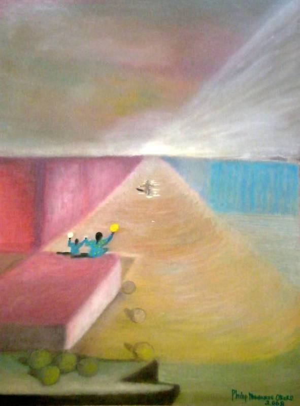Art Poster featuring the painting The Great Return by Philip Okoro