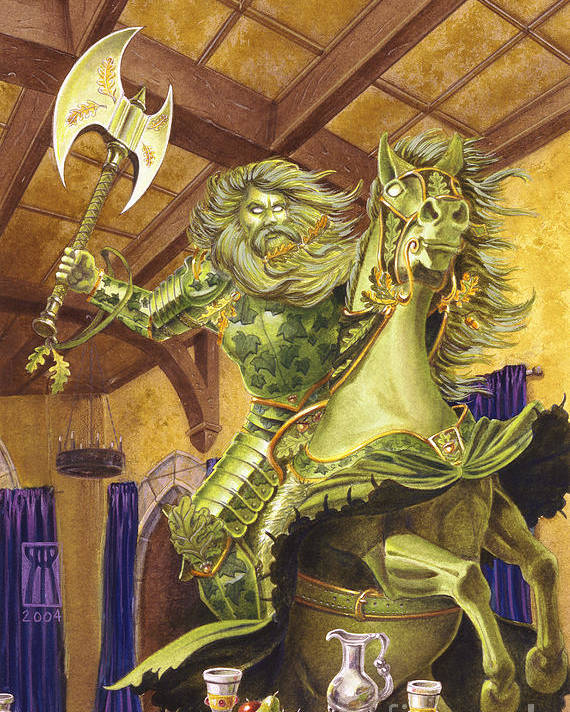 Fine Art Poster featuring the painting The Green Knight by Melissa A Benson