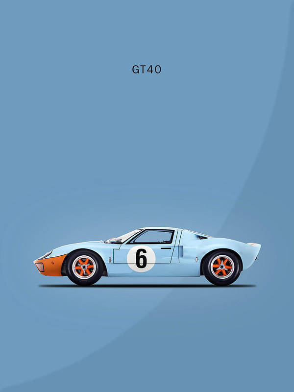 Ford Gt Poster Featuring The Photograph The Gt By Mark Rogan