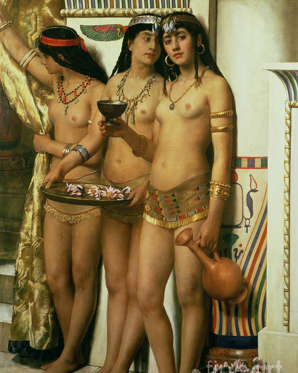 Royalty Poster featuring the painting The Handmaidens Of Pharaoh by John Collier