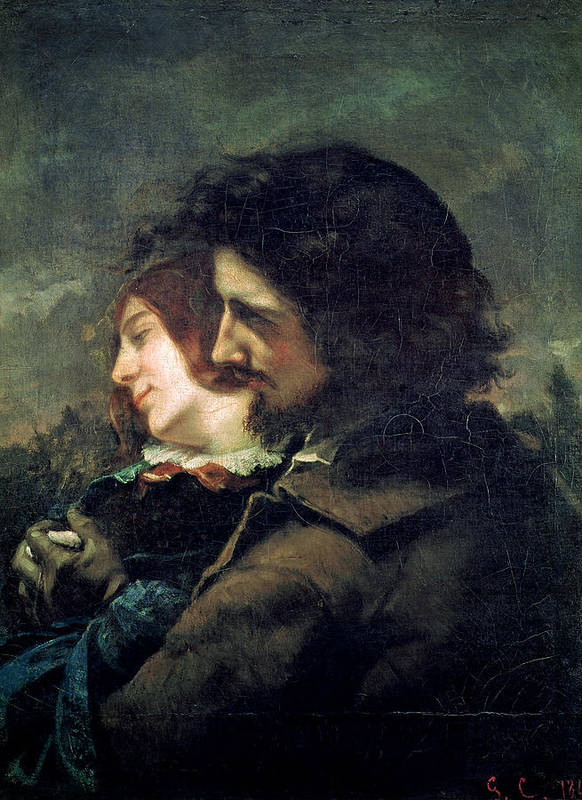 Courbet Poster featuring the painting The Happy Lovers by Gustave Courbet