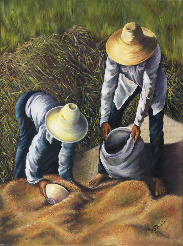 Harvest Poster featuring the painting The Harvest by Myra Goldick