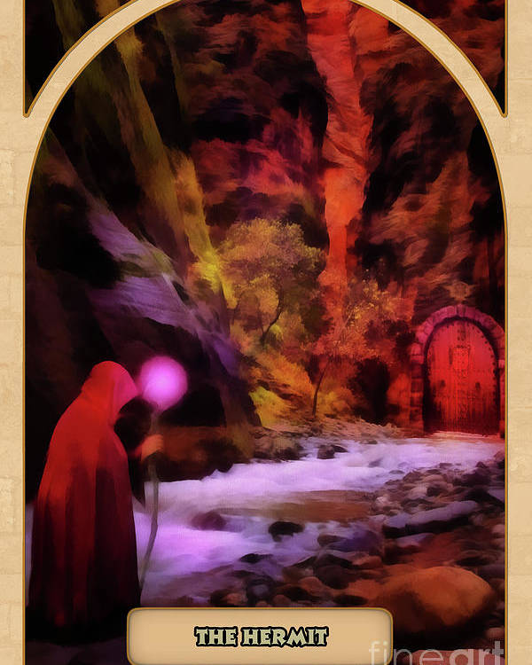Magic Poster featuring the digital art The Hermit by John Edwards