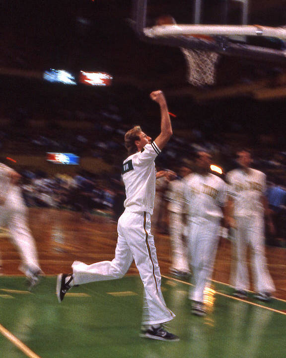Larry Bird Poster featuring the photograph The Hick From French Lick by Mike Martin