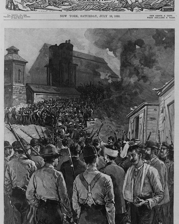 History Poster featuring the photograph The Homestead Steel Strike Riot by Everett