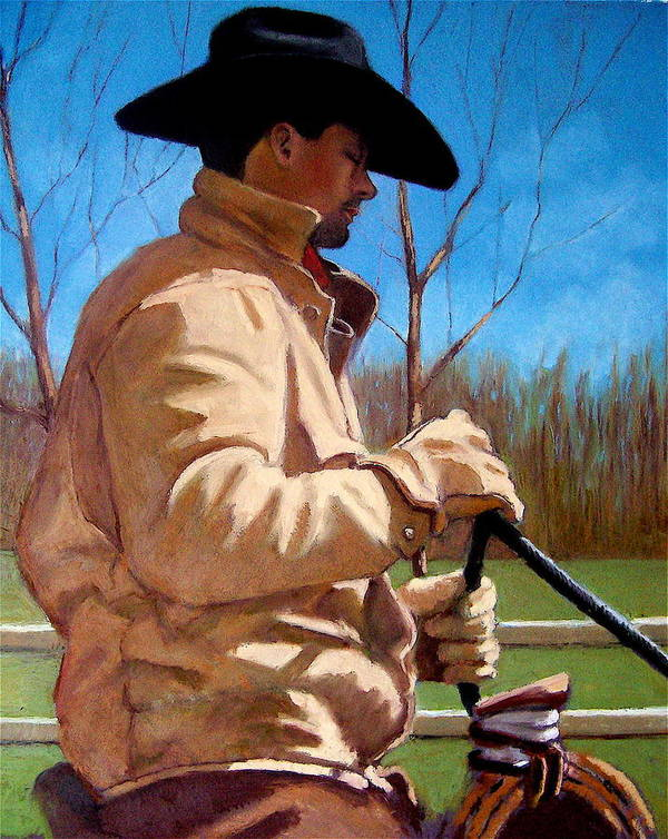 Horse Poster featuring the pastel The Horse Trainer No. 2 by Joyce Geleynse