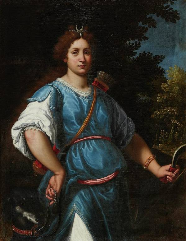 Matteo Rosselli Florence 1578 - 1650 Diana The Huntress Poster featuring the painting The Huntress by Matteo Rosselli