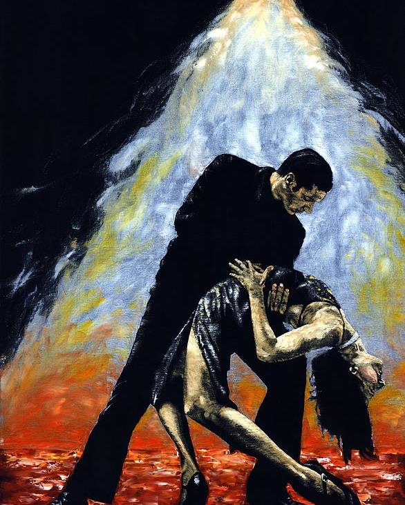 Tango Poster featuring the painting The Intoxication Of Tango by Richard Young