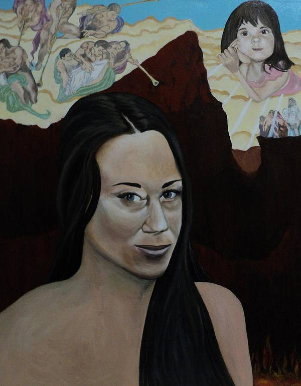 Casey Anthony Poster featuring the painting The Judgment Of Casey Anthony The Sacrifice Of Caylee Anthony by Angelo Thomas