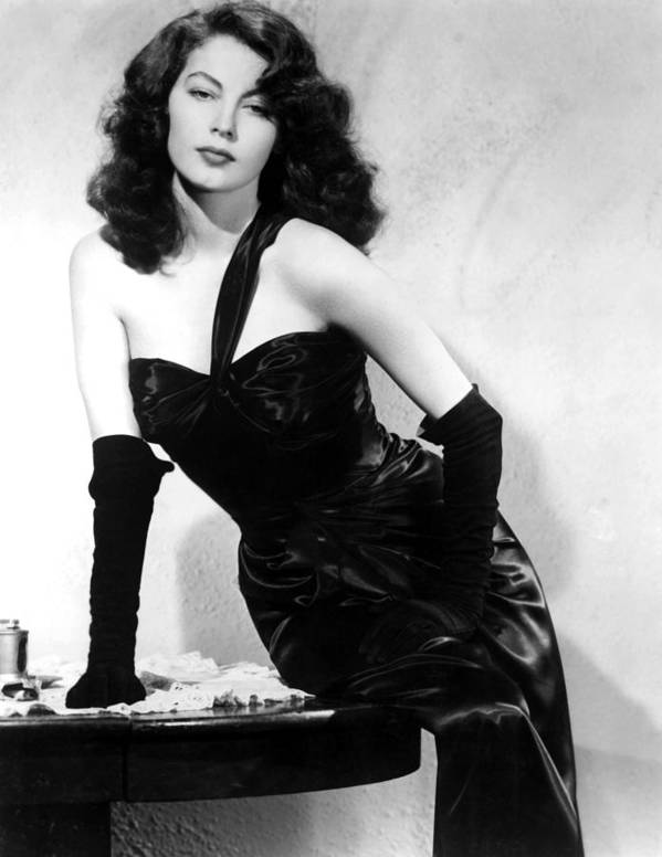 1940s Portraits Poster featuring the photograph The Killers, Ava Gardner, 1946 by Everett