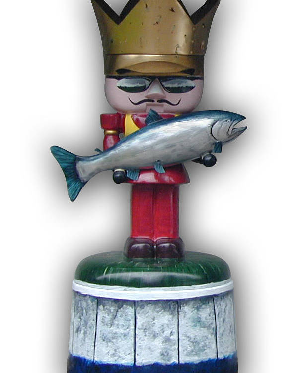 Nutcracker Poster featuring the sculpture The King And I by Paul Illian
