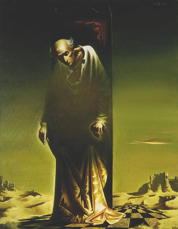 Figures Poster featuring the painting The King by Andrej Vystropov