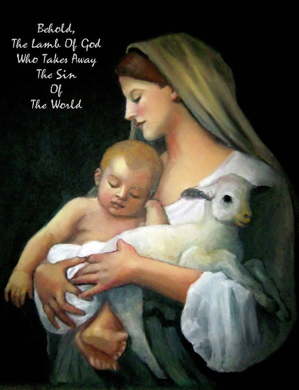 God Poster featuring the pastel The Lamb Of God by Joyce Geleynse