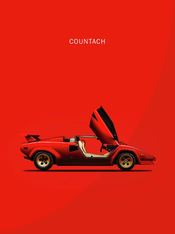 The Lamborghini Countach Poster