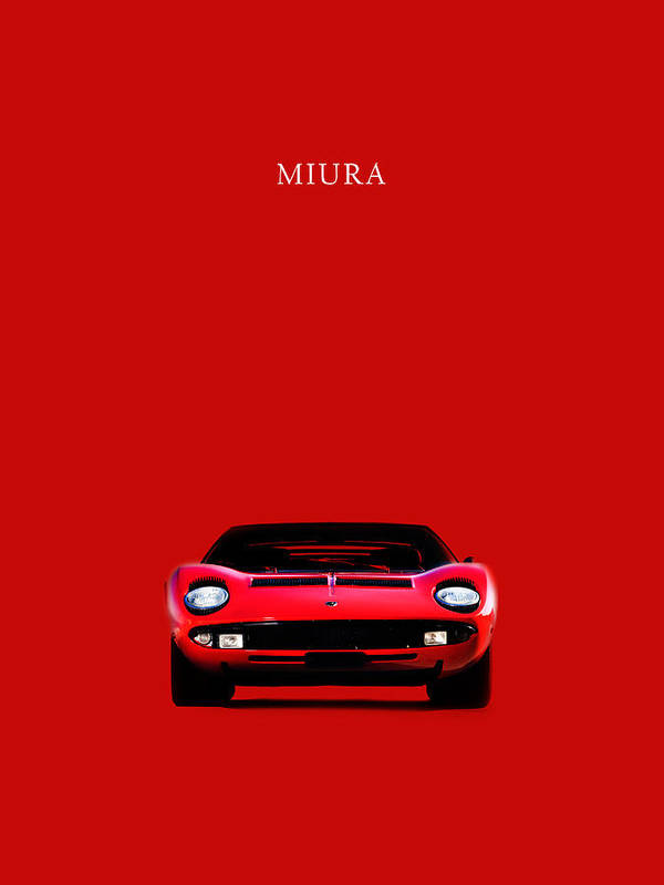 The Lamborghini Miura Poster By Mark Rogan