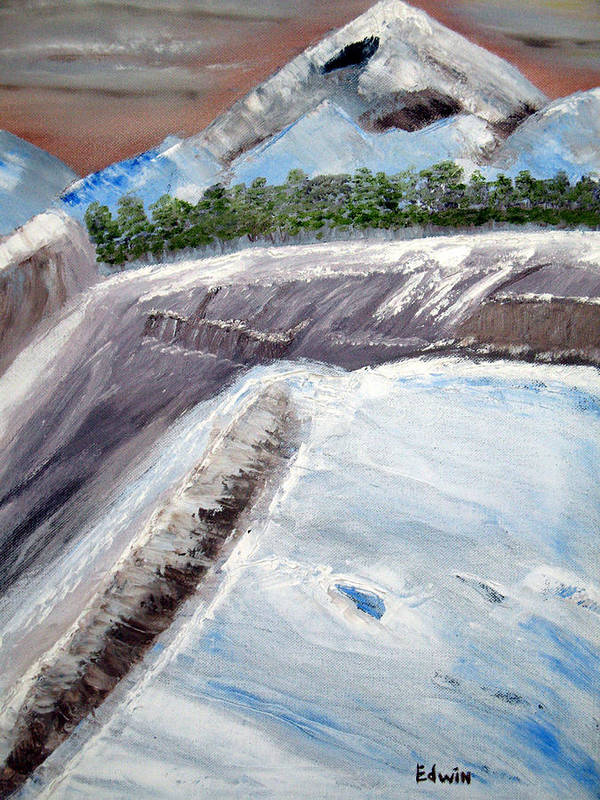 Glacier Poster featuring the painting The Last Glacier by Edwin Long