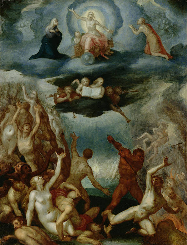 The Poster featuring the painting The Last Judgement by Martin Pepyn