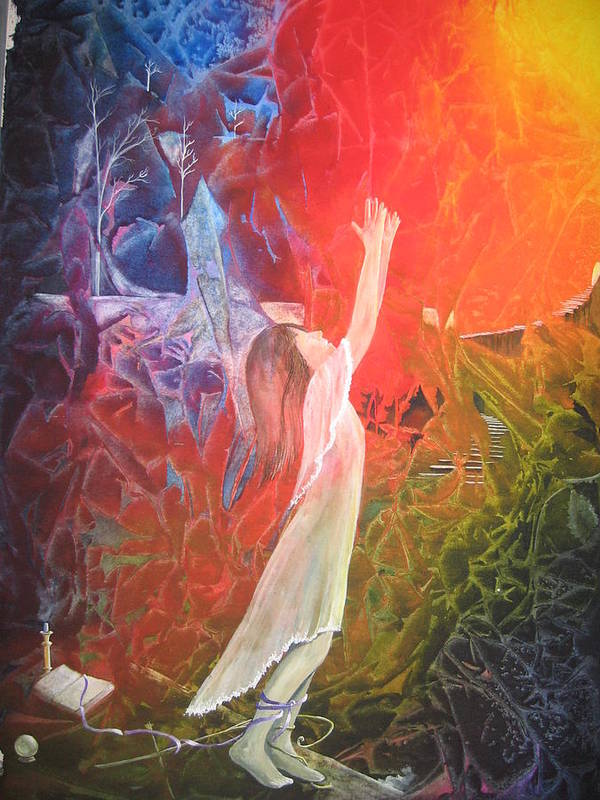 Cover Art Poster featuring the painting The Light by Jackie Mueller-Jones