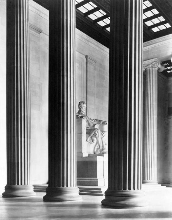 Lincoln Memorial Poster featuring the photograph The Lincoln Memorial by War Is Hell Store
