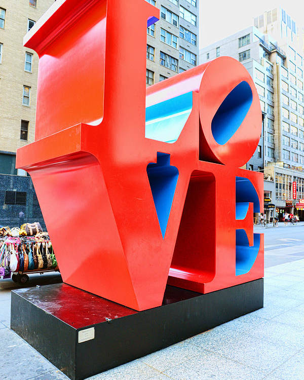 Love Poster featuring the photograph The Love Sculpture by Paul Ward